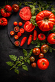Whole red tomatoes and slice of tomatoes - PhotoDune Item for Sale