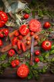 Fresh sliced tomatoes - PhotoDune Item for Sale