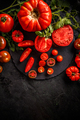 Cutting red tomatoes composition - PhotoDune Item for Sale