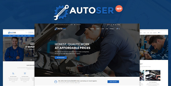 Autoser - Car Repair and Auto Service WordPress Theme - Business Corporate