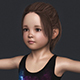 Realistic Cute Child Girl - 3DOcean Item for Sale