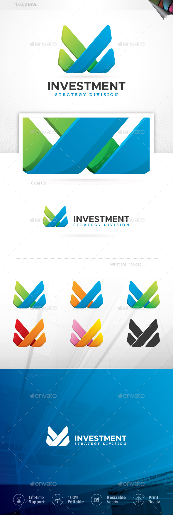 Finance and Investment Logo - Symbols Logo Templates