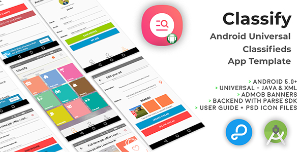 Classify | Android Universal Classifieds App Template - CodeCanyon Item for Sale