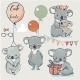Se with Little Koalas and Balloons - GraphicRiver Item for Sale