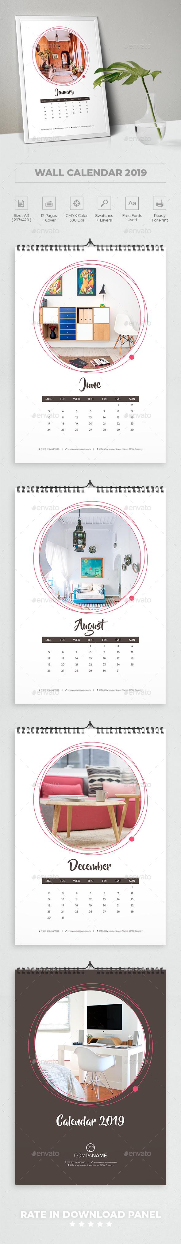 2019 Creative Calendar - Calendars Stationery