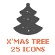 Christmas Tree Filled Icon - GraphicRiver Item for Sale