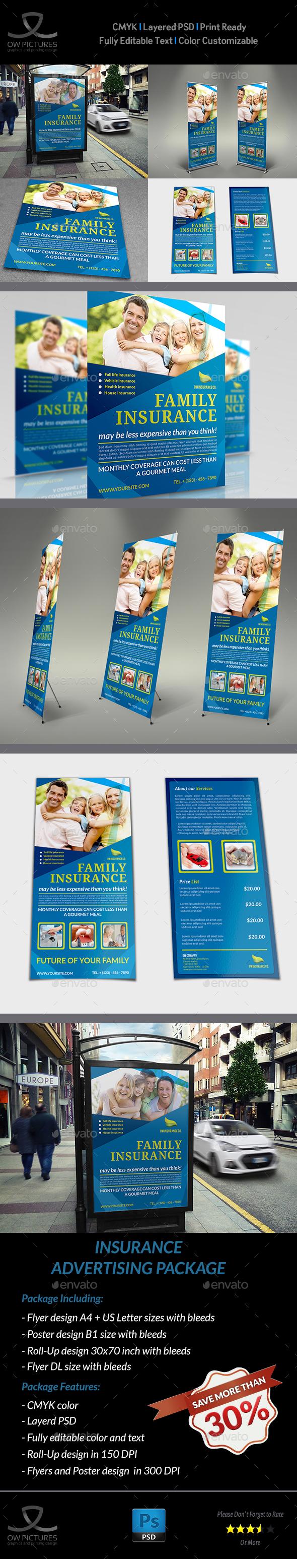 Insurance Advertising Bundle - Signage Print Templates