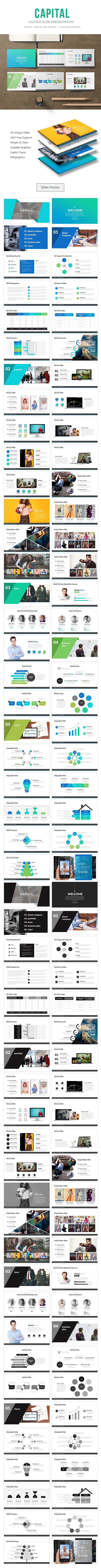 Capital Google Slide Presentation - Google Slides Presentation Templates