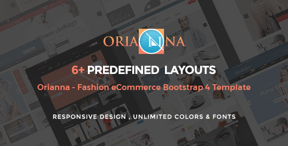 Orianna - Fashion E-commerce Bootstrap 4 Template Free Download | Nulled