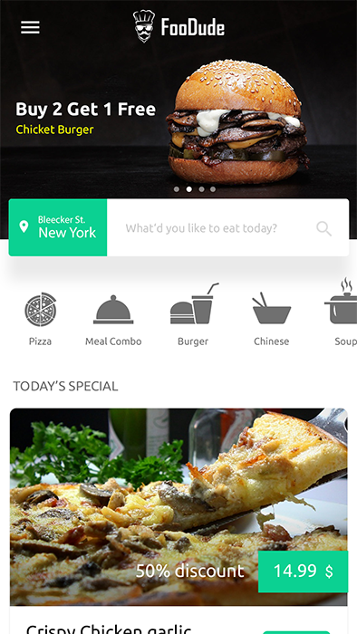 Food Ordering & Delivery Android App Template (XML Code in Android) |  FooDude