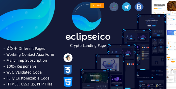 Eclipseico bitcoin and crypto currency html template by perletheme 01eclipseicog maxwellsz
