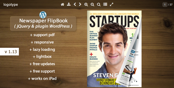 Flipbook WordPress Plugin Newspaper - CodeCanyon Item for Sale