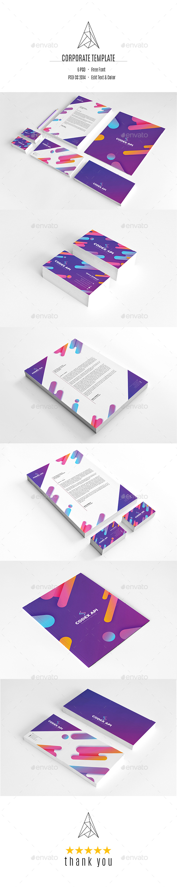 Codex Api Corporate Identity - Stationery Print Templates