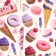 Seamless Pattern with Pink and Lilac Sweets - GraphicRiver Item for Sale