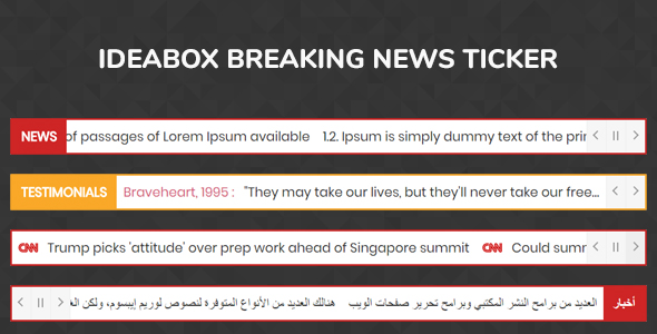 Ideabox Breaking News Ticker - jQuery Plugin - CodeCanyon Item for Sale