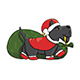 Cartoon Scotch Terrier Santa Character Delivering Presents - GraphicRiver Item for Sale