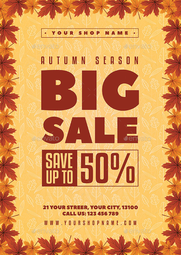 Autumn Sale Flyer - Holidays Events
