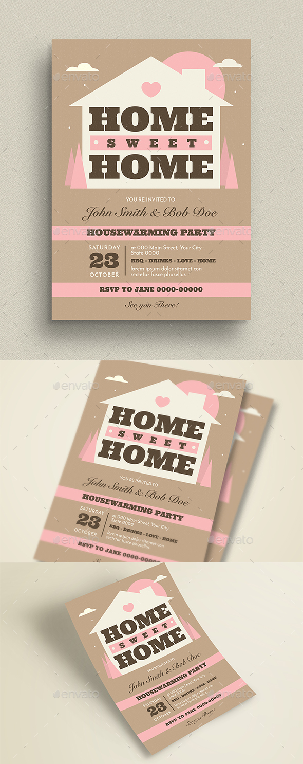 House Warming Event Flyer/Invitation - Cards & Invites Print Templates