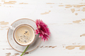 Coffee cup and gerbera flower - PhotoDune Item for Sale