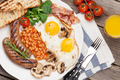 English breakfast. Fried eggs, sausages, bacon - PhotoDune Item for Sale