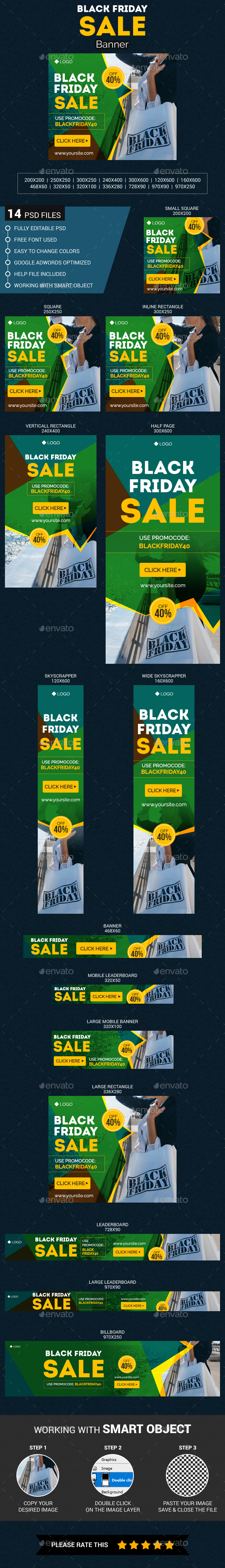 Black Friday Sale - Banners & Ads Web Elements