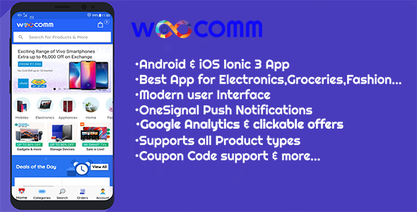 WooComm - WooCommerce Mobile Ionic 3 App - CodeCanyon Item for Sale