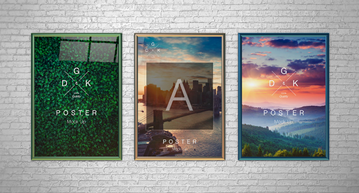 Collection of Posters Mockups