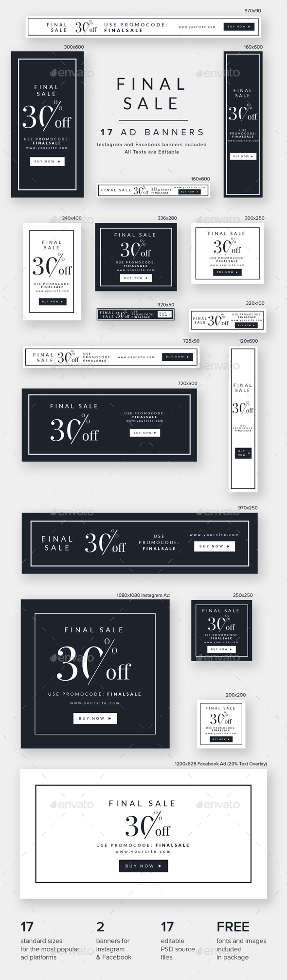 Final Sale Ad Banners - Banners & Ads Web Elements