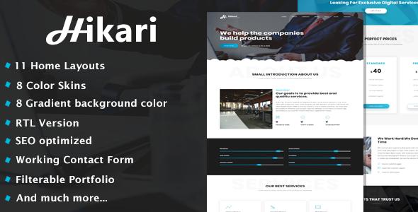 Hikari - One Page Parallax