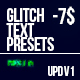 Free Download Glitch Text Presets Pack Nulled