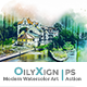 OilyXign - Modern Watercolor Art | PS Action - GraphicRiver Item for Sale