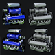 Turbo engine 3D Model - 3DOcean Item for Sale