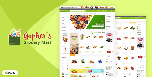 Gopher's | Grocery, Shopping Centre Shopify Theme - Shopify eCommerce