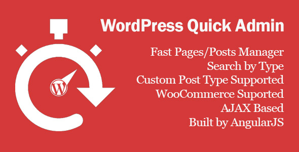 WordPress Quick Admin - CodeCanyon Item for Sale