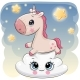 Unicorn on the Cloud - GraphicRiver Item for Sale