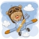Teddy Bear Flying on a Plane - GraphicRiver Item for Sale