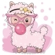 Pink Alpaca with Bubble Gum - GraphicRiver Item for Sale