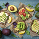 Sandwiches with rye bread and guacamole - PhotoDune Item for Sale