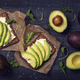 Sandwiches with rye bread and fresh sliced avocado - PhotoDune Item for Sale