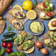 Bruschettas with rye bread and guacamole - PhotoDune Item for Sale
