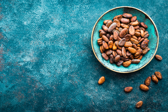 Cocoa beans. Cocoa - Stock Photo - Images