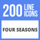200 Four Seasons Filled Line Icons