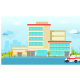 Set of Hospital Buildings - GraphicRiver Item for Sale