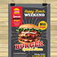 Burger Menu Flyer Template