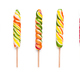 Set of twisted lollipops, isolated on white - PhotoDune Item for Sale