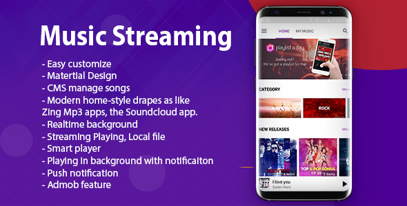 Music Streaming (Pro Version) - CodeCanyon Item for Sale