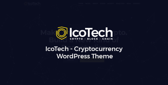 IcoTech - Crypto BlockChain WordPress Theme - Technology WordPress