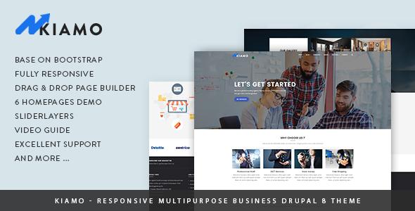 Kiamo - Responsive Business Service Drupal 8.6 Theme - Business Corporate