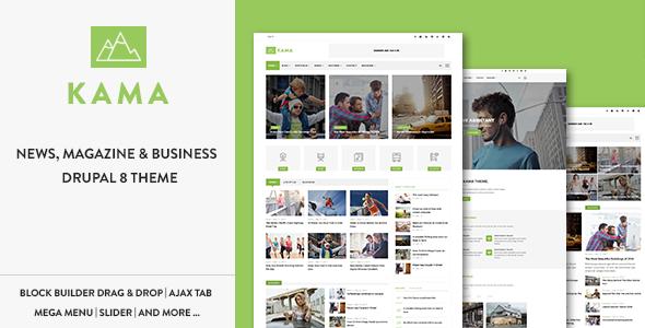Kama - Responsive Magazine & Business Drupal 8.6 Theme - Blog / Magazine Drupal
