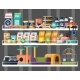 Pet Shop or Store Showcase with Animal Food - GraphicRiver Item for Sale